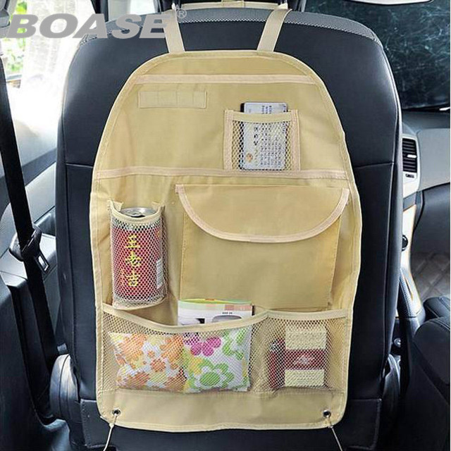 car multi pocket storage organizer arrangement bag of back seat of