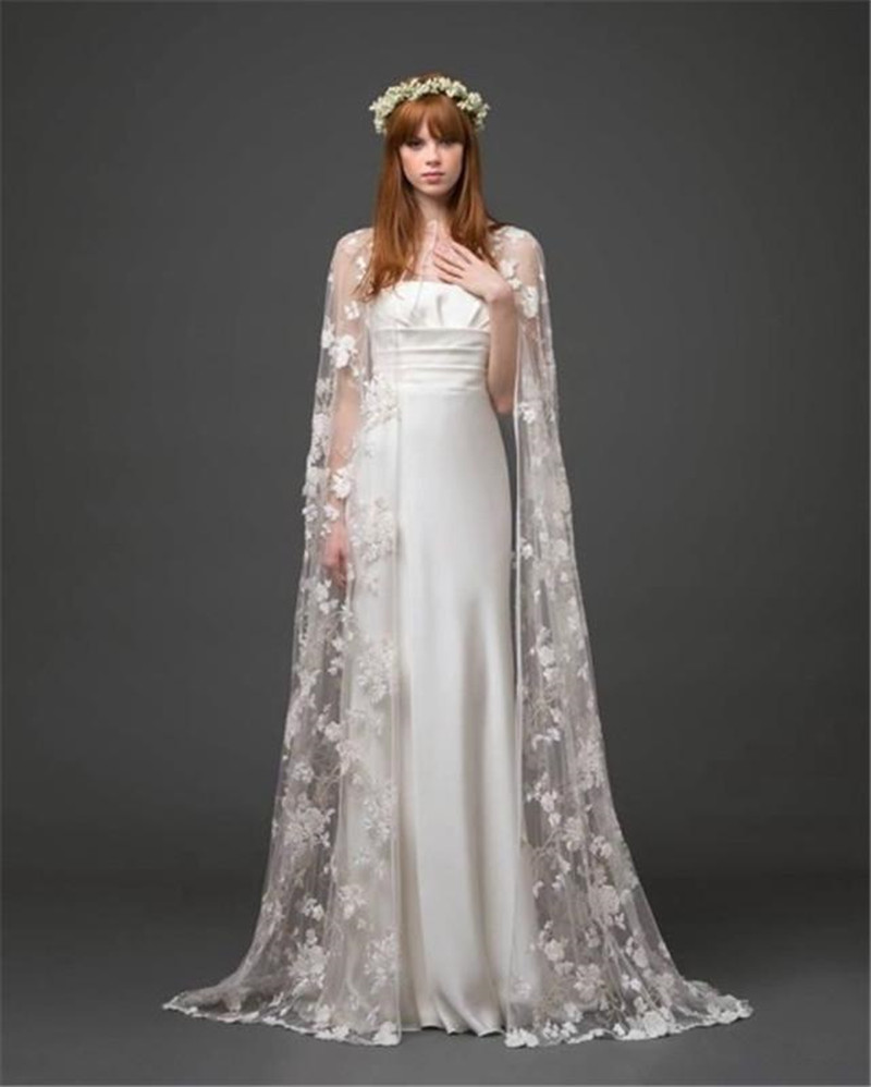 Newest Style Bridal Cape Jackets Lace Vintage White Wedding Lique Bolero Shrug In Wrap From Weddings Events On Aliexpress