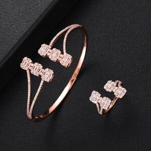 Image 5 - Роскошные модные Ювелирные наборы GODKI для женщин Свадебные циркониевые кристаллы CZ Дубай Свадебные наборы браслетов и колец современные женские серьги 2019