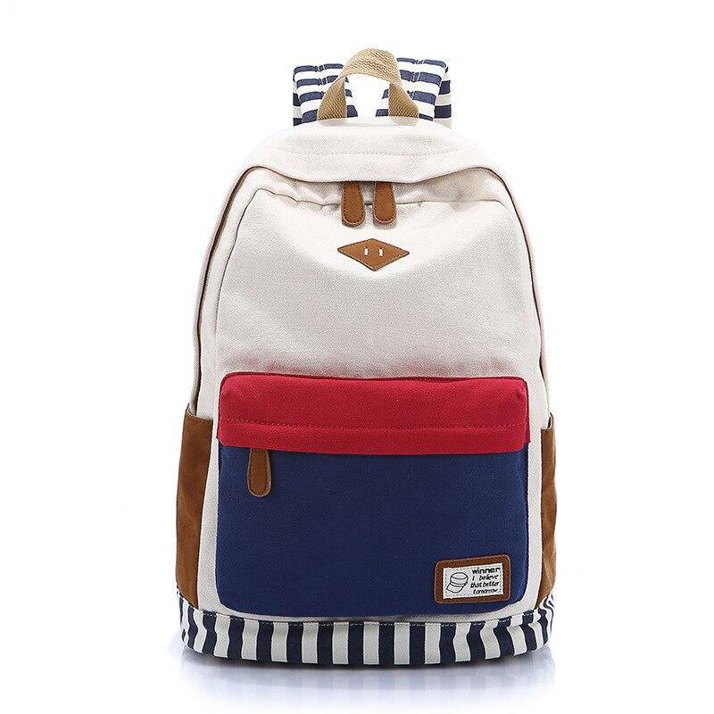 Westcreek Brand Striped Back Printing Backpacks Laptop Bookbags Rucksack School Bag for Teenager Girls Backpack Teens