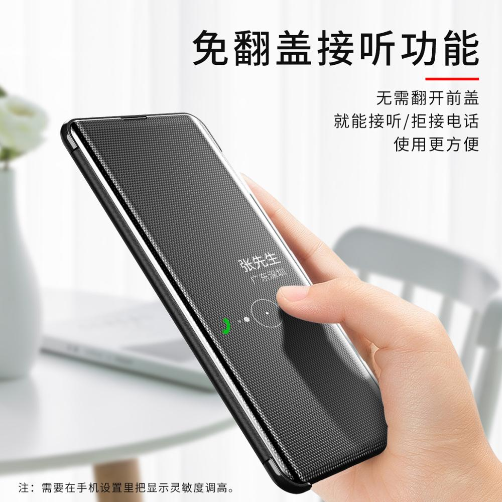 Image 3 - Smart Mirror Flip Phone Case For Samsung Galaxy S9 S10 S8 Plus S10E A30 A50 A70 A750 Clear View Cover For Galaxy Note 10 9 8 Pro-in Flip Cases from Cellphones & Telecommunications