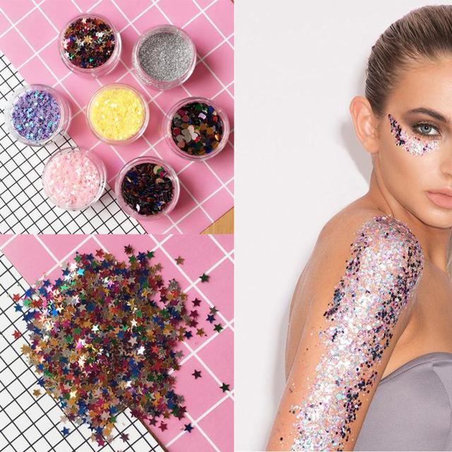 Flake Chunky Glitter Pots Nail Face Eye Shadow Tattoo Festival Body Dance  Party Levert Dropship OC09 2672776848f1