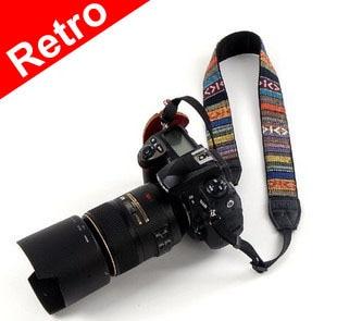 10pcs camera shoulder strap neck strap retro for DSLR SLR sx40 sx50 HS 600d 650d 700d d5100 d3100 d3300 d90 d80 60d Universal