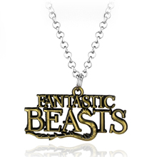 2 Colors Movie H.P. Series  Torque 'Fantanstic Beasts' Fashion  Adapted Letter Necklace Pendant Accessories