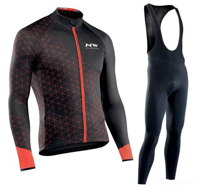 2019 Northwave NW Pro Camisa da equipe de Manga Comprida Ciclismo Roupas Definir terno homens ao ar livre Respirável sportful bicicleta MTB roupas paded 2