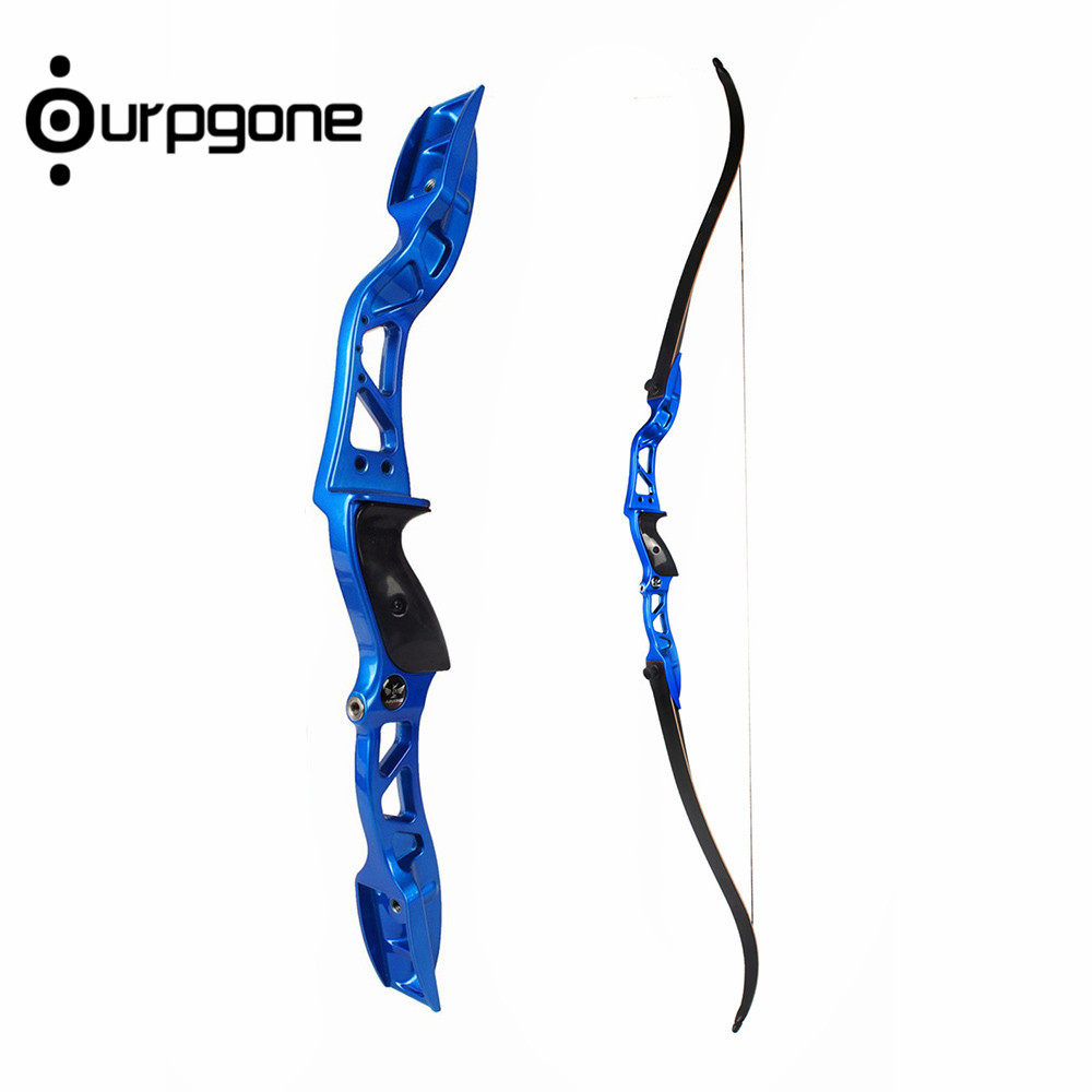 66 Inch Recurve Bow 24lbs 26lbs String Aluminum Alloy Handle Riser Longbow Hunting Tool Practice for