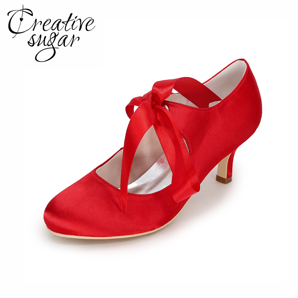 Red Closed Toe Wedding Shoes