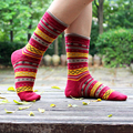 PEONFLY Hot Sale 3 Pairs Multi Color National Wind Geometric Socks Women Winter Cotton Soft Retro Socks 2017