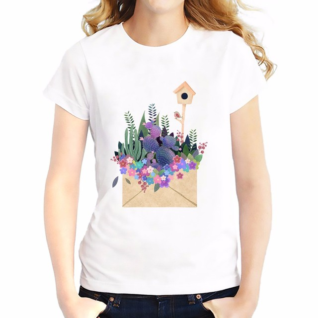Soft Breathable Cactus Printed T-shirt