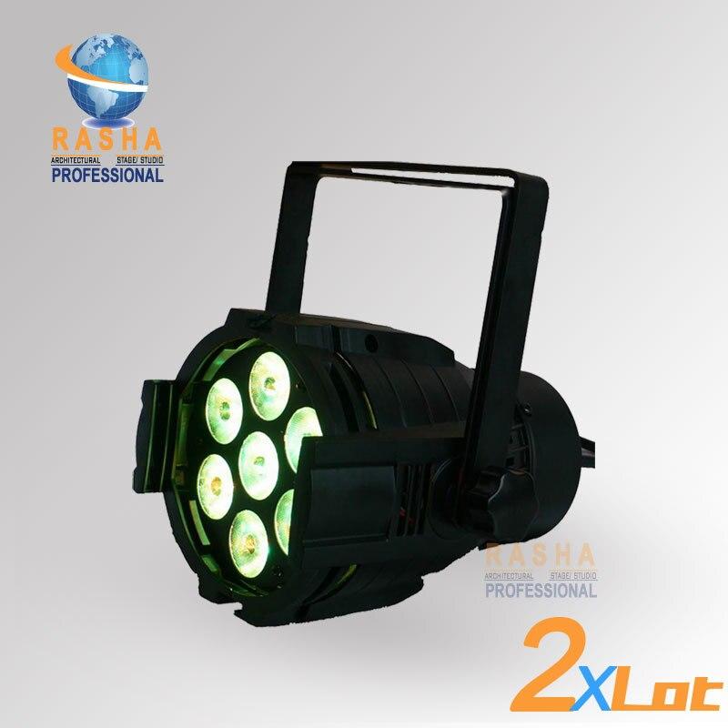 2X LOT Rasha Hot Sale 7pcs*10W RGBW 4IN1 Aluminum Mini LED Par Light,LED Mega Par38,Stage Light,RASHA LED Par Light цена
