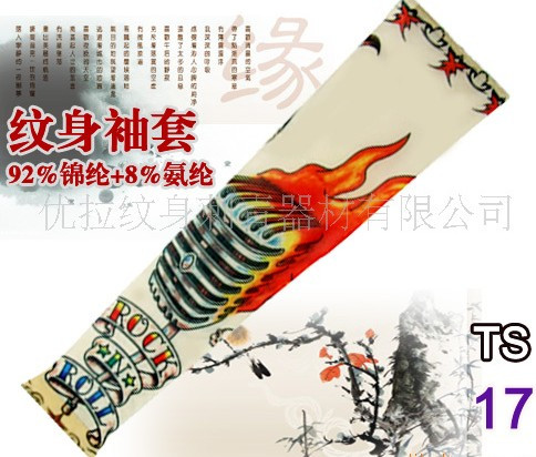 New hot driving sunscreen arm tatoo sleeve man & woman cool cycling temporary flash tattoo Stretchy scorpion fake tattoo sleeves 8