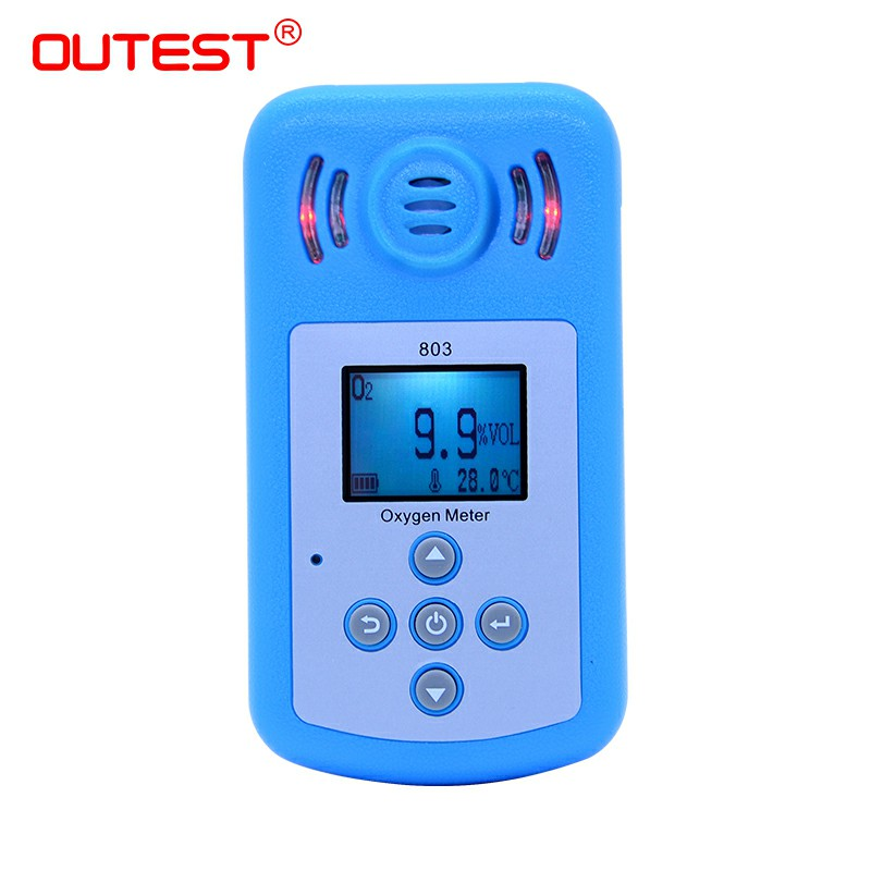 Large LCD Display Oxygen o2 Concentration gas Detector Oxygen meter air quality monitor Gas Analyzer Sound light vibration Alarm цены