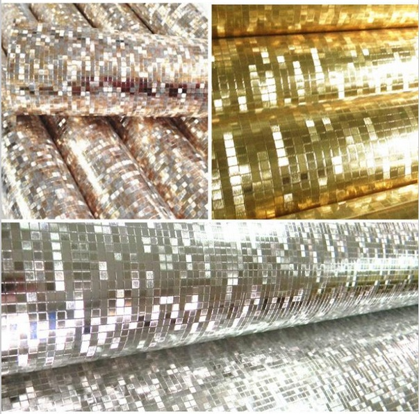ФОТО HaokHome Gold,Silver Metallic foil glitter shining wallpaper wall paper 0.53m*10m/roll,wallpaper for shop show room decoration