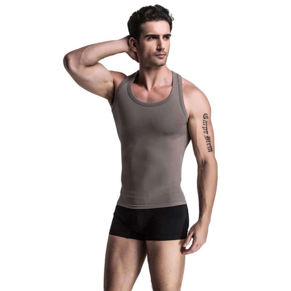 b4812c4c311 Men Clothing Tank Top Men Underwear Vest Body Building Shirt Slim ...