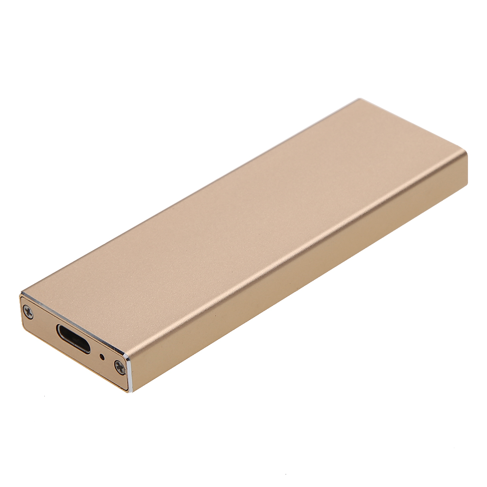 ZOMY External B Key M.2 NGFF SSD to USB 3.1 Type-C Super Speed Converter Adapter Enclosure Case with USB 3.0 Data Cable