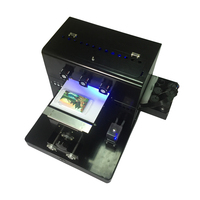 6 color uv printer printing water cooling UV Flatbed Printer A4 UV printer for leather Phone case PVC/Acrylic/Wooden/Metal