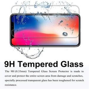 Image 4 - 100 pièces pour Apple IPhone X XR XS Max 11 Pro verre trempé protecteur décran pour IPhone protecteur décran couverture de Film de protection
