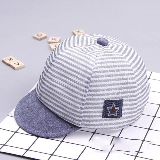 Boy's Casual Striped Soft Baseball Cap 5