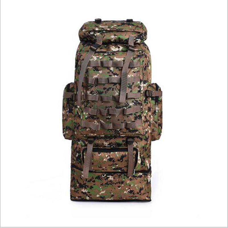 100L Large Capacity Outdoor Climbing Hiking Camouflage Waterproof Nylon Backpack Men Women Travel Camping Shoulder Bag Rucksack 65l professional outdoor mountaineering bag camouflage bag large capacity multi function camping hiking backpack outdoor travel