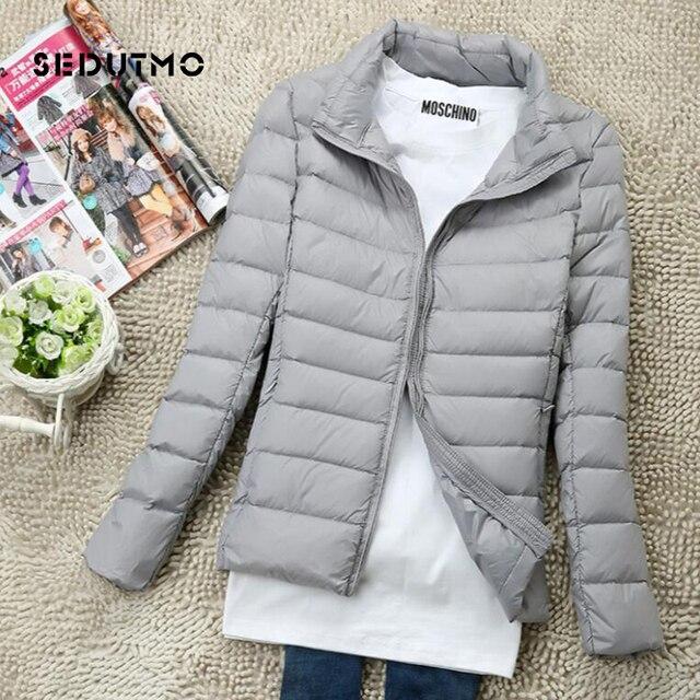 SEDUTMO Winter Women Down Coat Short Ultra Light Duck Down Jackets Slim Puffer Jacket Autumn Parkas ED660 3