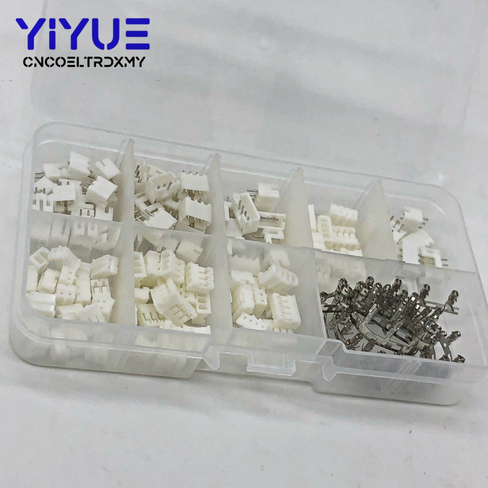 300pcs PH2.0 2p 3p 4 pin 2.0mm Pitch Terminal Kit / Housing / Pin Header JST Connector Wire Connectors Adaptor PH Kits 1000pcs dupont jumper wire cable housing female pin contor terminal 2 54mm new