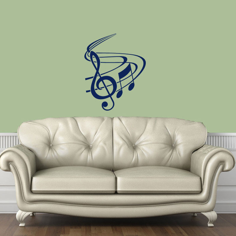 Buy dctop music note wall stickers home for Living room decor for sale