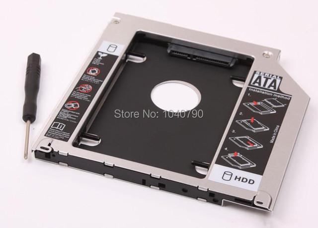 Frete Grátis Adaptador 9.5mm DVD-ROM de Driver de Disco SATA Optibay liga de Magnésio disco suporte para MacBook MacBook Pro