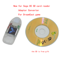 10pcs A Lot New For Sega DC SD Card Reader With Indicator Light Adapter Converter For