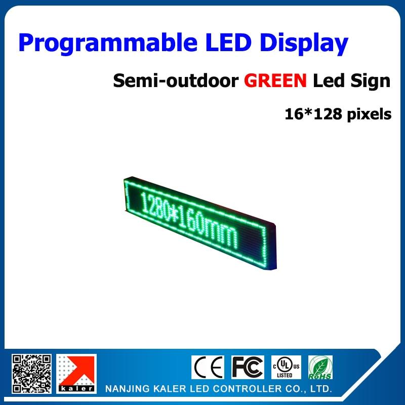 P10mm полууличный вариант светодиодная вывеска алюминиевая рама светодиодный электронный знак p10 светодиодный дисплей панели 1/4 сканирования зеленая светодиодная рекламная вывеска