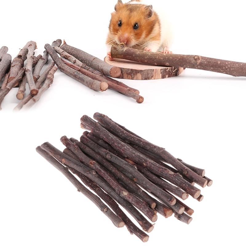 5pcs 20pcs Chew Stick Apple Tree Branch Hamster Squirrel Natural Toys Parrots Rabbits