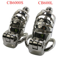 Stainless Steel Male Chastity Device Catheters CB6000L CB6000S Metal Chastity Cage Hollow Penis Sleeve Sex Toys for Men G7 1 227