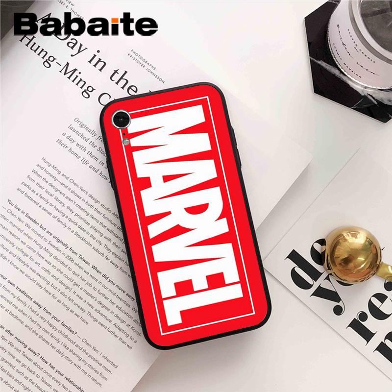 official photos af04f 35302 Babaite Marvel The Avengers Jorker Dead Pool Novelty Fundas Phone Case  Cover for iPhone 8 7 6 6S Plus X XS MAX 5 5S SE XR 10