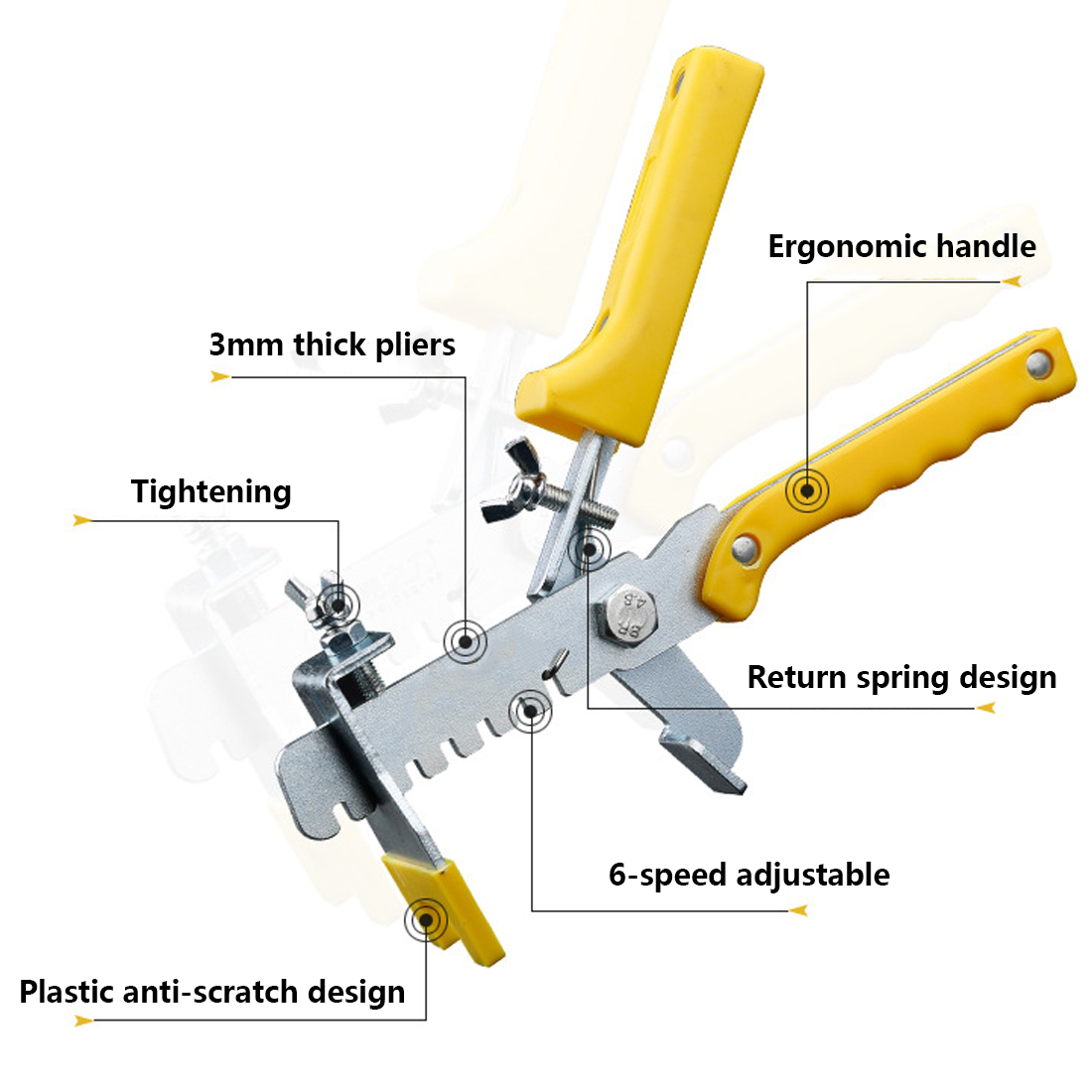 Accurate Tile Leveling Pliers Tiling Locator Tile Leveling System Ceramic Tiles Installation Measurement Tool