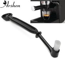 Arshen 22 см Кофе машина щетка& ЛОЖКА Эспрессо-машина руководитель группы Кухня нейлоновая щетка для чистки Щетинная кисть Кофе капсулы