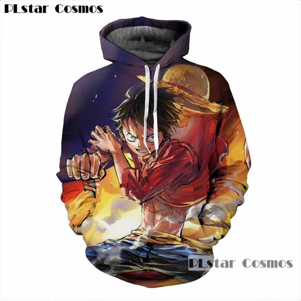 PLstar Cosmos New One Piece 3d Printing Hoodie Hooded Sweatshirt Men's with Naruto Print Cap Hoodie Hoodie Plus Jacket S-5XL
