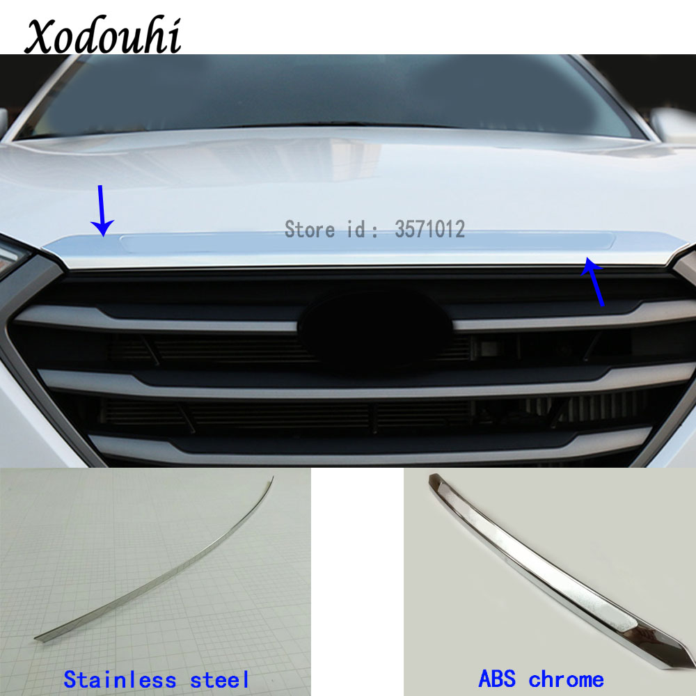Front Engine Hood Grille Cover Sticker Trim For Hyundai Tucson 2015 2016 2017