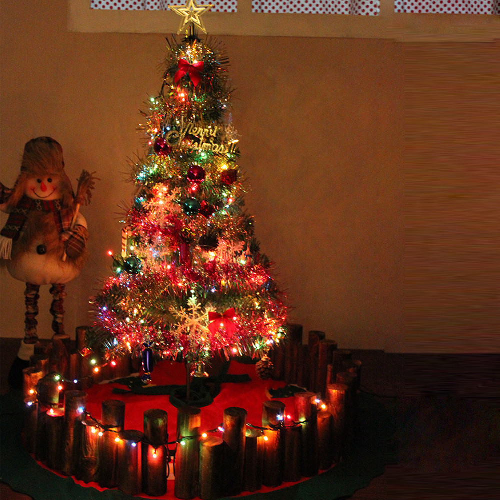 Artificial 90cm Christmas Tree LED Multicolor Lights ...