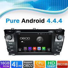 Pure Android 4.4.4 Autoradio Auto Radio Car DVD Player for TOYOTA COROLLA  2014