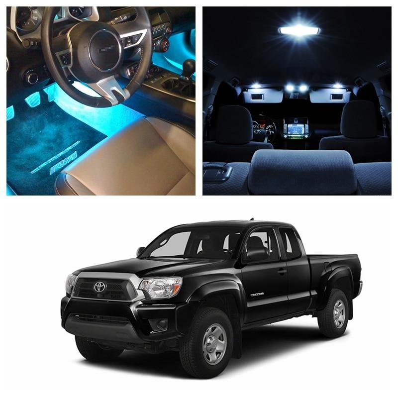 8pcs ice blue bulbs white led lights interior package kit - Toyota tacoma led interior lights ...