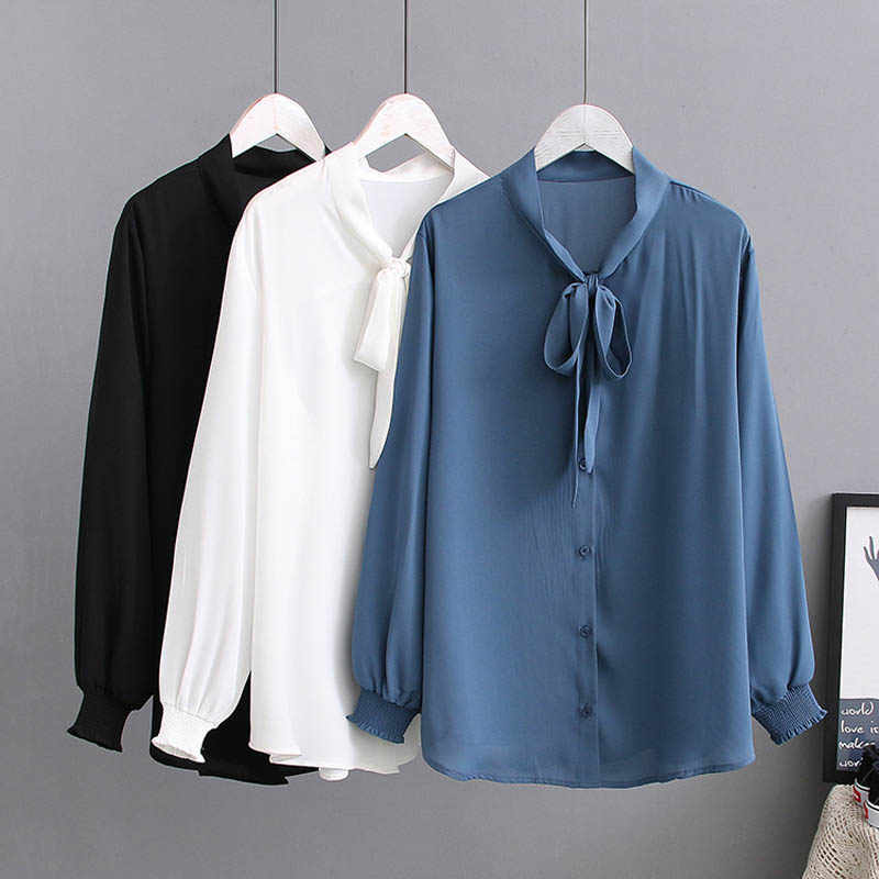 Spring Summer plus size blouse women 5XL 6XL 7XL 8XL Bust 138cm blouse women white black blue colors