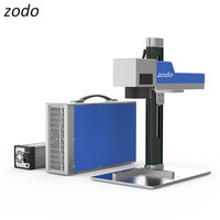 ZODO 30W portable mini fiber laser marking machine with Raycus laser source