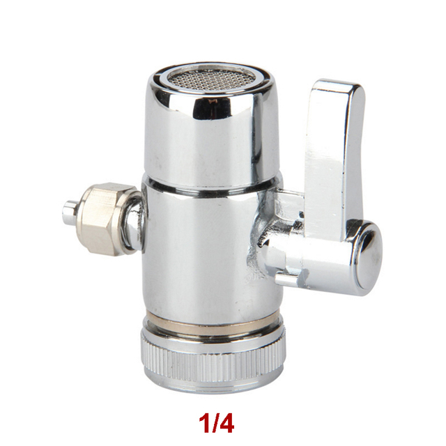 Faucet Adapter Diverter Valve Counter Top Water Filter 1/4 Inch Tube ...