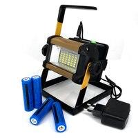 4 18650 Battery Brightness Waterproof IPX67 30W 36LED Floodlight Portable SpotLights Rechargeable Outdoor Work Emergency Light