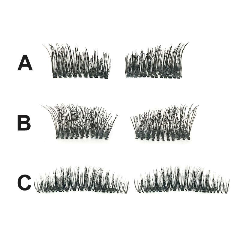 4pcs Double Magnetic Eyelashes Maquiagem False Lashes Long Magnetic Lashes False Eyelashes High Quality Makeup 3d Lashes Kit Set