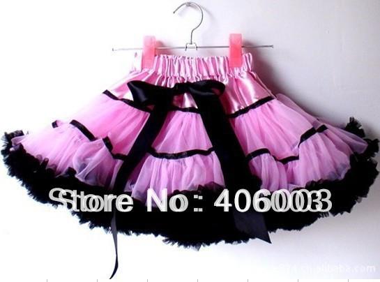 Envío libre venta al por mayor 3 unid cada lote Pink Tutu falda muchachas del bebé mullidas Pettiskirts