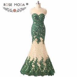 Real photos sheer o neck sleeveless green lace mermaid prom dress illusion back formal dress for.jpg 250x250