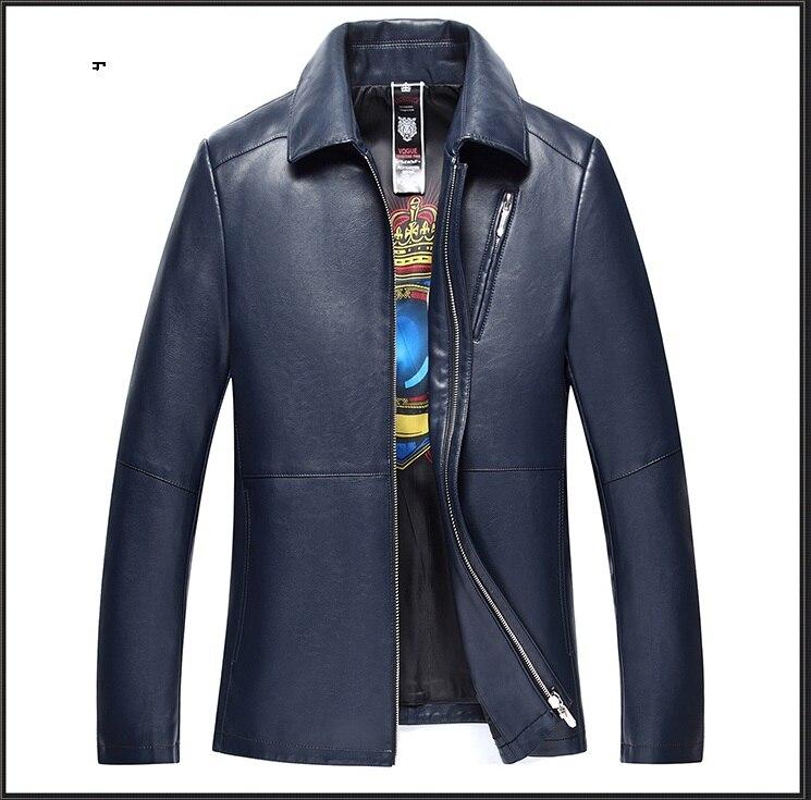 Новинка 1863, модное мужское пальто из натуральной кожи, куртка, Мужская одежда, пальто, Мужская осенняя куртка - 2