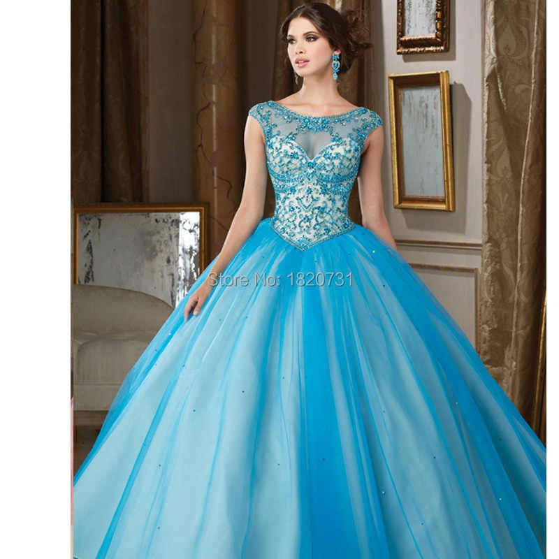 256a6ca5ce8 Vestidos de 15 anos Blue Pink Quinceanera Dresses 2019 Cheap Quinceanera  Gowns Jewelry Ball Gown Tulle