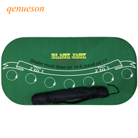 120*60cm Texas Hold'em Suede Rubber Blackjack Table Cloth 21Points Poker Table Tablecloth Waterproof Poker Table Board Games Mat