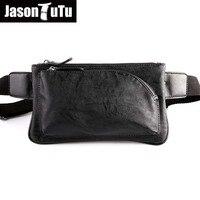 Hot 2018 New brand waist bag design fashion Waist Packs black pu leather men bag vintage fanny pack Men Pouch B09